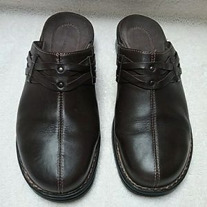 Clark's Brown Clog/Slipons Leather Size 10